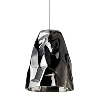 Zuri 1 Light 5 inch Satin Nickel Low-Voltage Mini Pendant Ceiling Light in Black (Zuri), Fusion Jack (no canopy)
