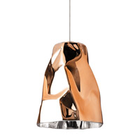 Zuri 1 Light 5 inch Satin Nickel Low-Voltage Mini Pendant Ceiling Light in Copper (Zuri), Fusion Jack (no canopy)