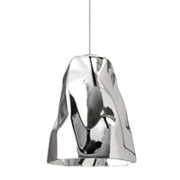 Zuri 1 Light 5 inch Satin Nickel Low-Voltage Mini Pendant Ceiling Light in Silver (Zuri), Monorail