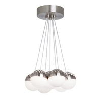 Sphere LED 28 inch Suspension Ceiling Light in Satin Nickel, Frost (Sphere), 3000K
