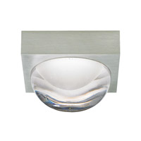 LBL Lighting FM929CRSCLEDWD Sphere LED 5 inch Satin Nickel Dual Flush Wall Mount Ceiling Light in Cast Clear