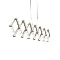 Xterna LED 77 inch Satin Nickel Linear Suspension Ceiling Light in 277V