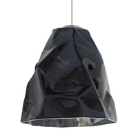 Zuri LED 9 inch Bronze Line-Voltage Pendant Ceiling Light in Black (Zuri)
