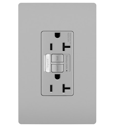 Legrand 2097NTLTRGRY Radiant GFCI photo
