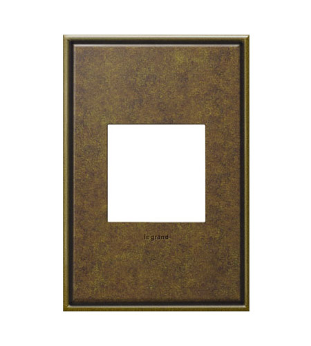 Legrand Adorne Cast Metals 1-Gang Wall Plate in Aged Brass AWC1G2AB4 photo