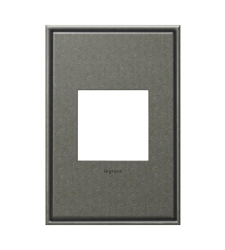 Legrand Adorne Cast Metals 1-Gang Wall Plate in Burnished Pewter AWC1G2BP4 photo