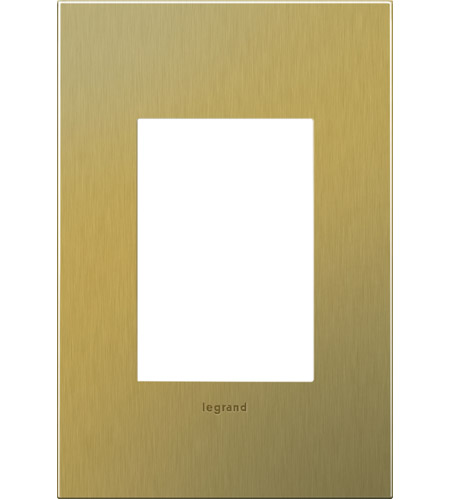 Legrand AWC1G3BB4 Cast Metals Brushed Brass Wall Plate photo