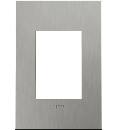 Legrand Adorne Cast Metals 1-Gang, 3-Module Wall Plate in Brushed Stainless Steel AWC1G3BS4 photo