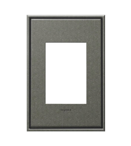 Legrand AWC1G3DP4 Cast Metals Dark Burnished Pewter Wall Plate photo