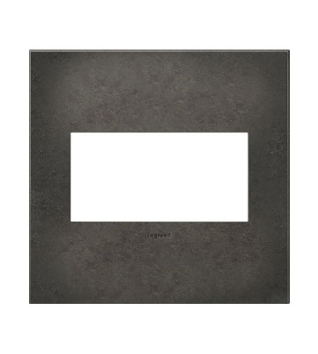 Legrand Adorne Cast Metals 2-Gang Wall Plate in Dark Burnished Pewter AWC2GDP4 photo