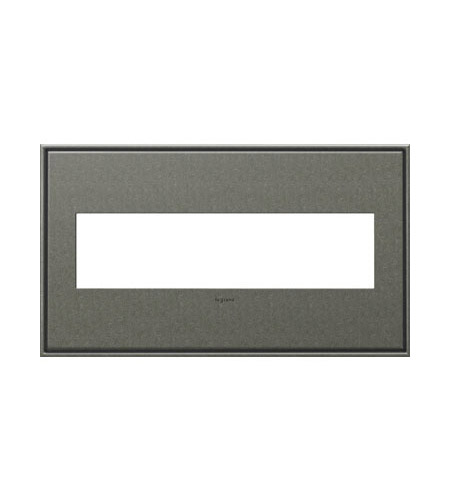 Legrand Adorne Cast Metals 4-Gang Wall Plate in Burnished Pewter AWC4GBP4 photo