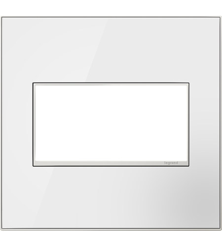 Legrand AWM2GMW4 Real Materials Mirror White Wall Plate photo