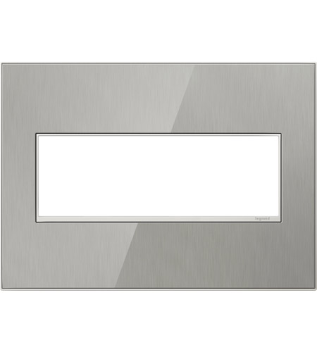 Legrand AWM3GMS4 Real Materials Mirror Brushed Stainless Wall Plate photo