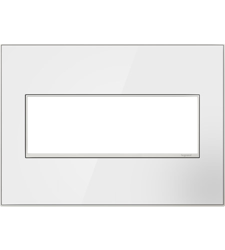 Legrand AWM3GMW4 Real Materials Mirror White Wall Plate photo