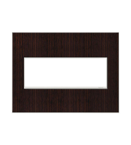 Legrand Adorne Real Materials 3-Gang Wall Plate in Wenge AWM3GWE4 photo