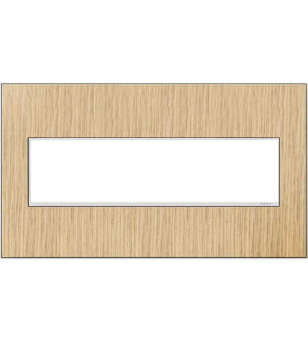 Legrand Adorne Real Materials 4-Gang Wall Plate in French Oak AWM4GFH4 photo