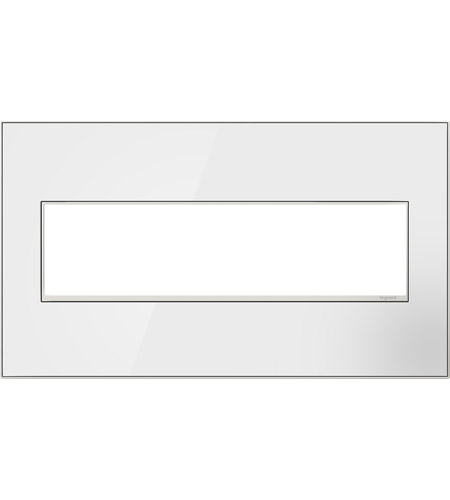 Legrand AWM4GMW4 Real Materials Mirror White Wall Plate photo