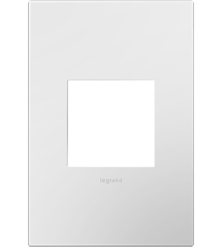 Legrand Adorne Plastics 1-Gang Wall Plate in Gloss White AWP1G2WH10 photo