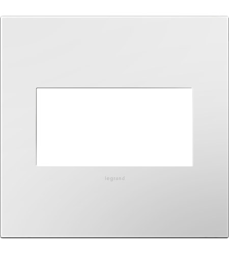 Legrand Adorne Plastics 2-Gang Wall Plate in Gloss White AWP2GWH10 photo