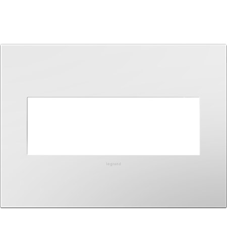 Legrand Adorne Plastics 3-Gang Wall Plate in Gloss White AWP3GWH4 photo