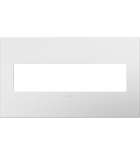 Legrand AWP4GWH4 Plastics Gloss White Wall Plate photo