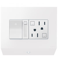 Adorne White Control Box, with Paddle Dimmer and 15A GFCI