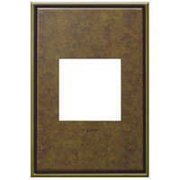 Legrand Adorne Cast Metals 1-Gang Wall Plate in Aged Brass AWC1G2AB4