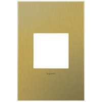 Legrand Adorne Cast Metals 1-Gang Wall Plate in Brushed Brass AWC1G2BB4