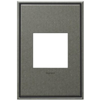 Legrand Adorne Cast Metals 1-Gang Wall Plate in Burnished Pewter AWC1G2BP4