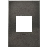 Legrand Adorne Cast Metals 1-Gang Wall Plate in Dark Burnished Pewter AWC1G2DP4