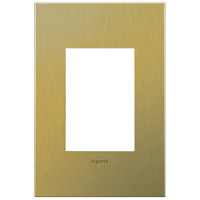 Legrand Adorne Cast Metals 1-Gang, 3-Module Wall Plate in Brushed Brass AWC1G3BB4
