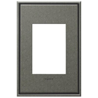 Legrand AWC1G3DP4 Cast Metals Dark Burnished Pewter Wall Plate photo thumbnail