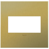Legrand AWC2GBB4 Adorne Brushed Brass Wall Plate, 2-Gang