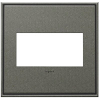 Adorne Burnished Pewter Wall Plate, 2-Gang