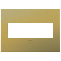 Adorne Brushed Brass Wall Plate, 3-Gang