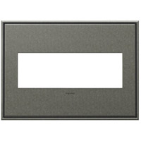 Adorne Burnished Pewter Wall Plate, 3-Gang