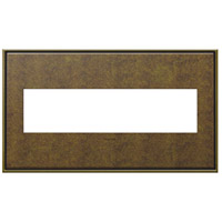 Legrand Adorne Cast Metals 4-Gang Wall Plate in Aged Brass AWC4GAB4