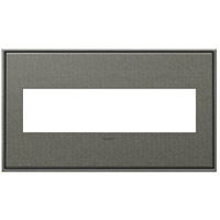 Adorne Burnished Pewter Wall Plate, 4-Gang