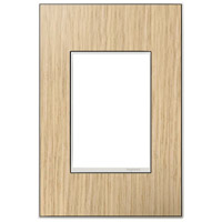 Legrand Adorne Real Materials 1-Gang, 3-Module Wall Plate in French Oak AWM1G3FH4