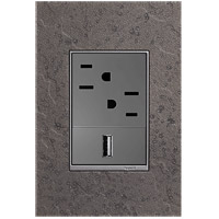 Legrand AWM1G3HFFE1 Adorne Natural Iron Wall Plate, 1-Gang
