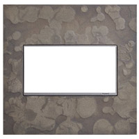 Legrand AWM2GHFBS1 Adorne Burnished Steel Wall Plate 2-Gang