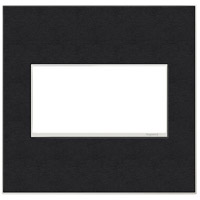 Adorne Black Leather Wall Plate, 2-Gang