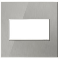 Legrand Adorne Real Materials 2-Gang Wall Plate in Mirror Brushed Stainless AWM2GMS4