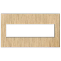 Legrand Adorne Real Materials 4-Gang Wall Plate in French Oak AWM4GFH4