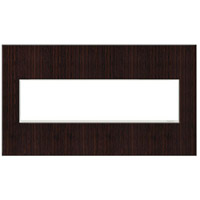Legrand Adorne Real Materials 4-Gang Wall Plate in Wenge AWM4GWE4