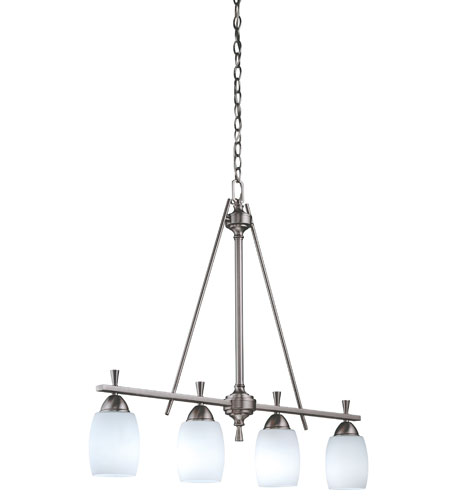 Lithonia Lighting Ferros Chandeliers in Brushed Nickel 11537-BN photo