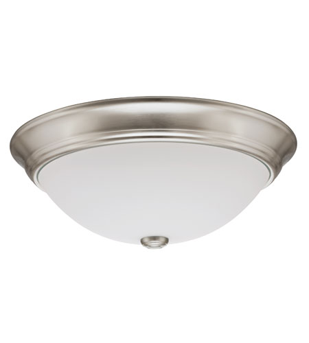 Lithonia Lighting Decor Round Flushmounts in Polished Brushed Nickel 11983-BNP photo