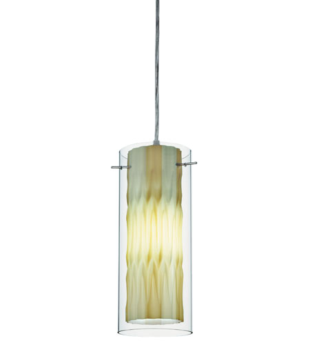 Lithonia Lighting Zentros Mini-Pendant in Green Glass 11990-GG photo