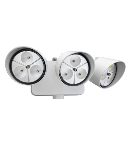 Lithonia Lighting LED Floodlight 3-Light Dusk to Dawn in White OFLR-9LC-120-P-WH photo
