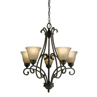 Lithonia Lighting Priscilla Chandeliers in Antique Bronze 10726-BZA